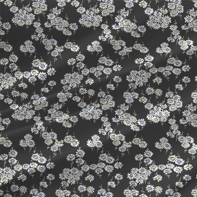 Daisy Mini Floral Fabric By The Yard in Chalk Colorway