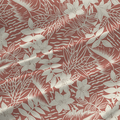 Garden Toile Floral Fabric By The Yard in Dusty Coral