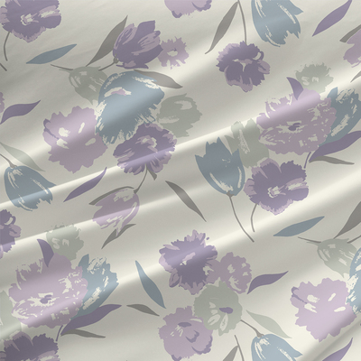 Joanette Floral Fabric By The Yard in Pastel Lilac Colorway
