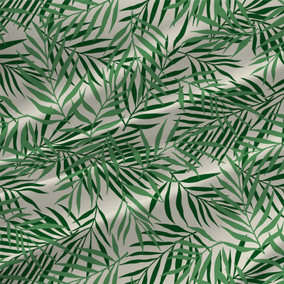 Palm Tropical Leaves Fabric By The Yard shown in Green colorway