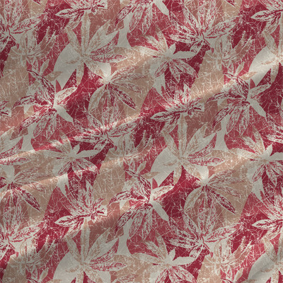 Collage Abstract Floral Fabric by the Yard in Cherry Colorway