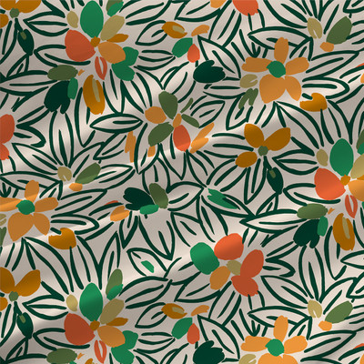 Flower Bed Floral Fabric by the Yard - Daylilies Colorway