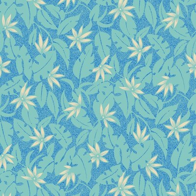 Tobago Tropical Fabric by the Yard in Surf Colorway