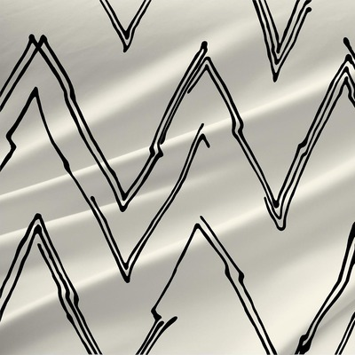 Peaks - Geometric Fabric By The Yard in Snow Cap