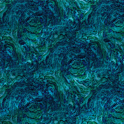 Aerial Textured Fabric by the Yard in Aquatic Blue and Green