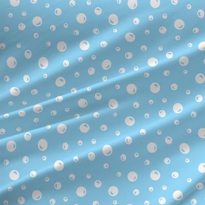 Bubbles Geometric fabric by the yard in cloud blue