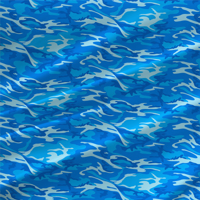 Surf Abstract Fabric by the Yard in All Blue Colorway