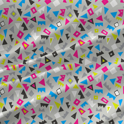 Scatter Abstract Geometric Fabric by the Yard in Urban Colorway