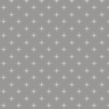 Diamond Medallions Fabric Design (Medium Gray colorway)