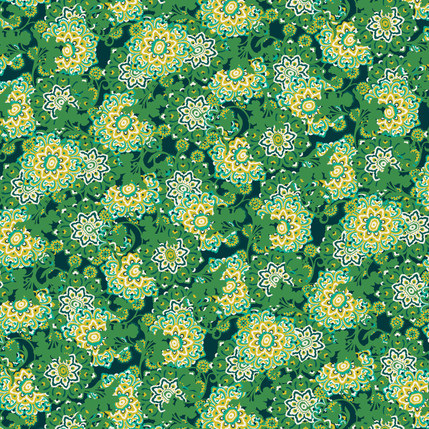 Bouquet Fabric Design (Forest colorway)