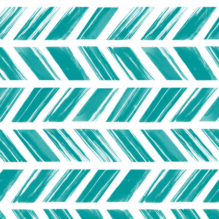 Painted Stripe Geometric Fabric Design (Teal colorway)