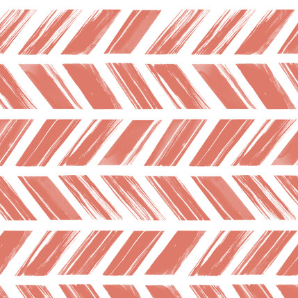Painted Stripe Geometric Fabric Design (Coral colorway)