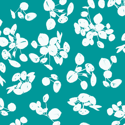 Stones Abstract Fabric Design (Teal colorway)