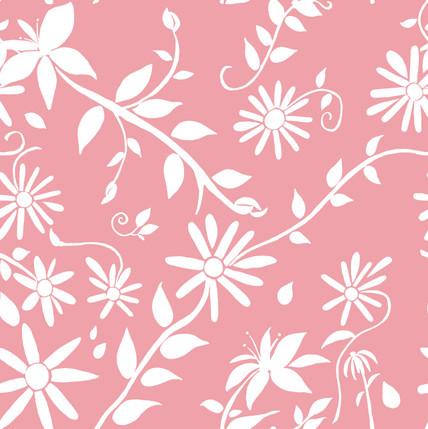 Trellis Reverse Floral Fabric Design (Blush colorway)