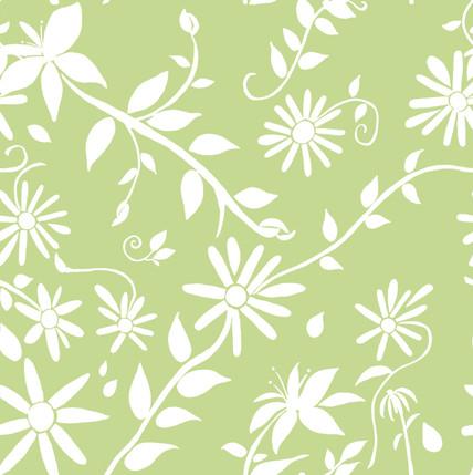 Trellis Reverse Floral Fabric Design (Lettuce colorway)