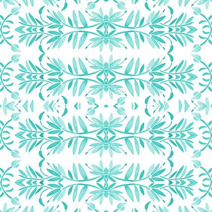 Porto Floral Fabric Design (Mermaid colorway)