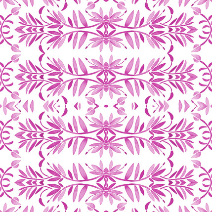 Porto Floral Fabric Design (Peony colorway)