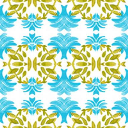 Newport Floral Fabric Design (Pool colorway)