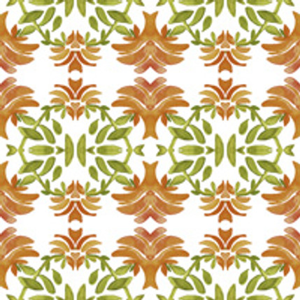 Newport Floral Fabric Design (Terracotta colorway)