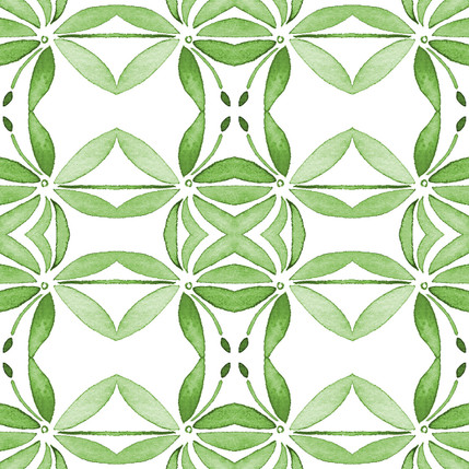 Grotto Floral Fabric Design (Verde colorway)