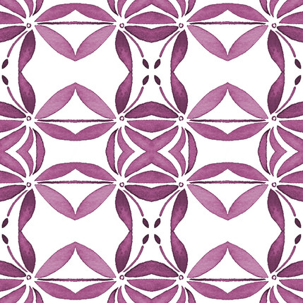 Grotto Floral Fabric Design (Vino colorway)