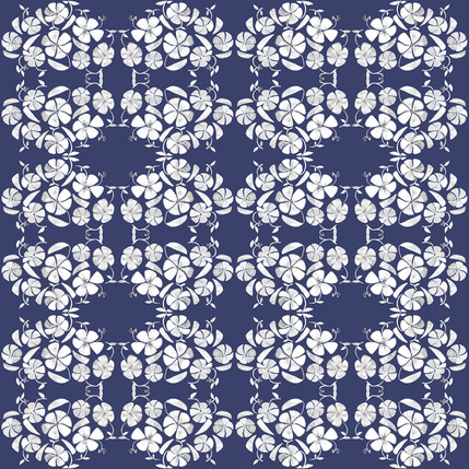 Poppy Floral Fabric Design (Chatham colorway)
