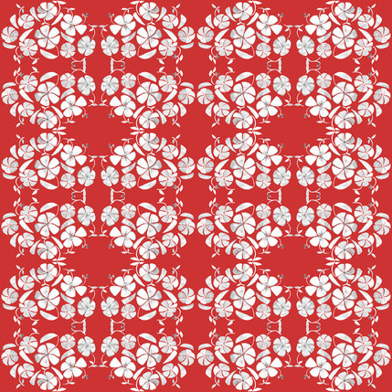 Poppy Floral Fabric Design (Pomfret colorway)