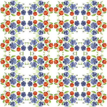 Poppy Floral Fabric Design (Warren colorway)