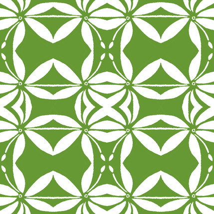 Grotto Reverse Floral Fabric Design (Verde colorway)