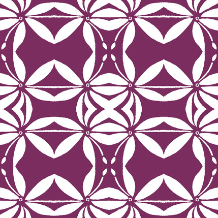 Grotto Reverse Floral Fabric Design (Vino colorway)