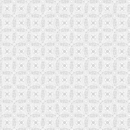 Overlapping Medallions Fabric Design (Medium Gray colorway)