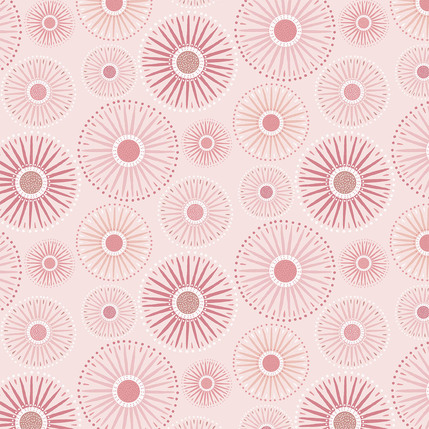 Sunburst Grande Fabric Design (Blush colorway)