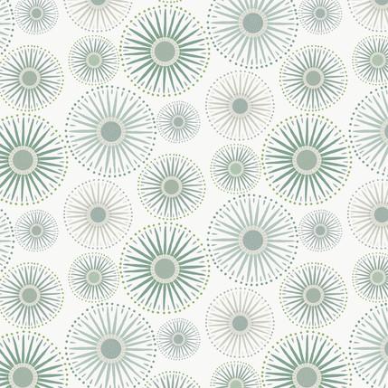 Sunburst Grande Fabric Design (Light Evergreen colorway)