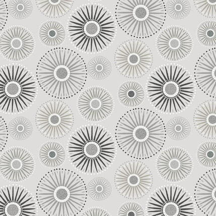 Sunburst Grande Fabric Design (Medium Gray colorway)