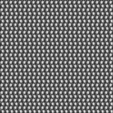Waving Flowers Fabric Design (Black and White colorway)