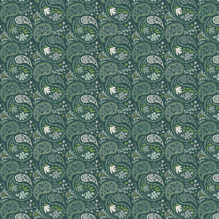 Matisse Paisley Design (Evergreen colorway)