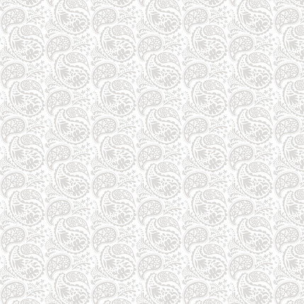 Matisse Paisley Fabric Design (Light Gray colorway)