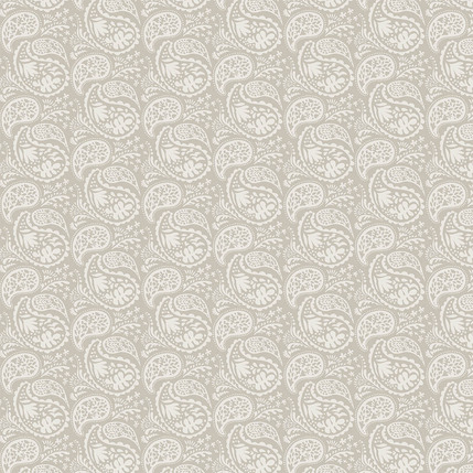 Matisse Paisley Fabric Design (Taupe colorway)