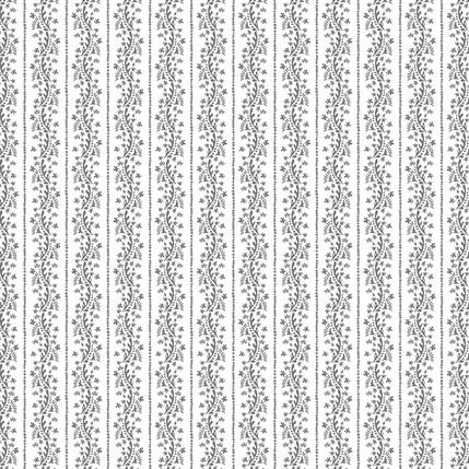 Matisse Stripe Fabric Design (Gray White colorway)