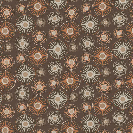 Sunburst Fabric Design (Dark Copper colorway)