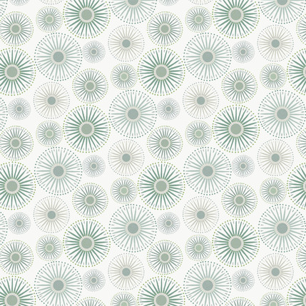 Sunburst Fabric Design (Light Evergreen colorway)