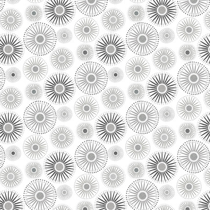 Sunburst Fabric Design (Light Gray colorway)