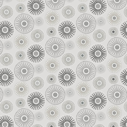Sunburst Fabric Design (Medium Gray colorway)