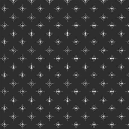 Diamond Medallions Fabric Design (Black colorway)