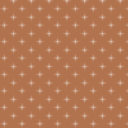 Diamond Medallions Fabric Design (Copper colorway)