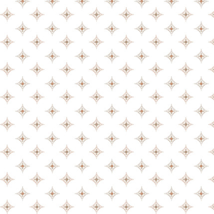 Diamond Medallions Fabric Design (Light Copper colorway)