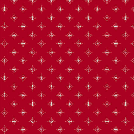 Diamond Medallions Fabric Design (Red colorway)