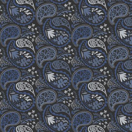Matisse Paisley Grande Fabric Design (Blue colorway)