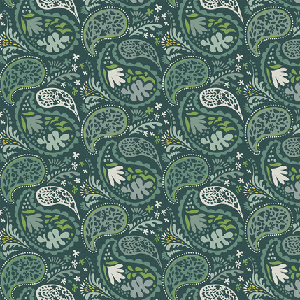 Matisse Paisley Grande Fabric Design (Evergreen colorway)