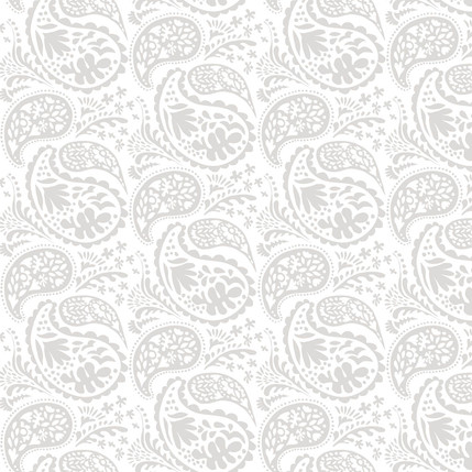 Matisse Paisley Grande Fabric Design (Light Gray colorway)